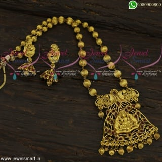 Incomparable Kharbuja Beads Temple Jewellery Antique Gold Design Haram Online