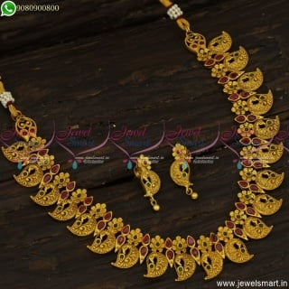 Incredible Gold Necklace Designs In Artificial Jewellery Catalogue CollectionsNL23764