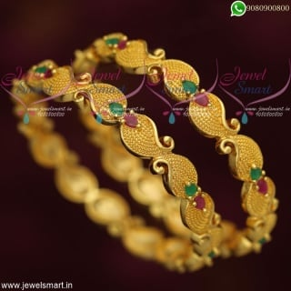 Indian Bangles Online Mango Design Gold Covering Daily Wear CollectionsB19110