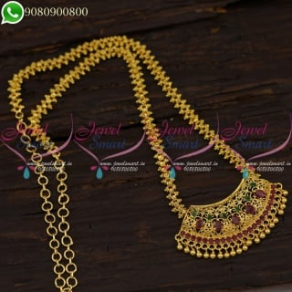 Traditional Indian Gold Plated Jewellery Daily Wear Chain Pendant Collections CS21218