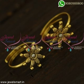 Indian Toe Rings Metti Online Antique Gold Plated With Stone Colour Options T21284