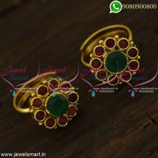 Metti Toe Rings Online Indian Jewellery Copper Metal Jewellery AD Stones T21290
