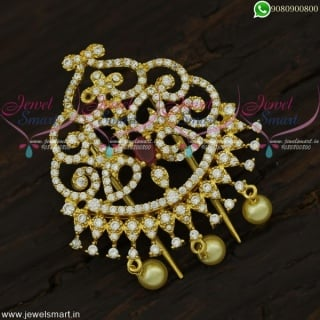Jadai Alangaram For Marriage Designer Accesories For Hair CZ Jewellery  H21943