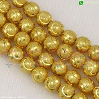 Jewellery Beading Materials Online 8 MM Lightweight Golden Beads