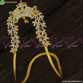 Jewellery For Wedding Gold Plated Ara Vanki Peacock Design Traditional