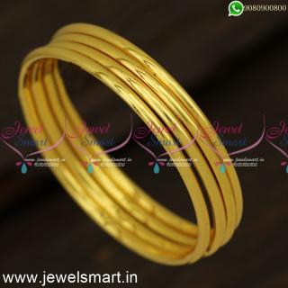 Jewellery Ideas for Sensitive Skin Gold Bangles Design For Baby Girls B24332