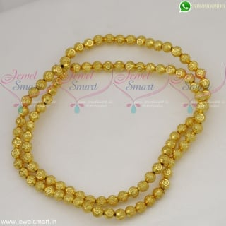 Jewellery Making Materials Online Gold Plated Designer Beads 8 MM
