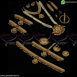 Jewellery Set for Kuchipudi Dance Low Price Assorted Ornaments Kit Online D23073
