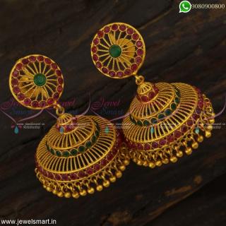Jimikki Kammal Models Light Weight Jhumka Earrings Fabulous Designs Online