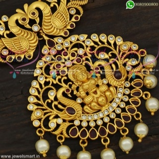 Temple Jewellery Long Necklace South Indian Artificial Collections Online