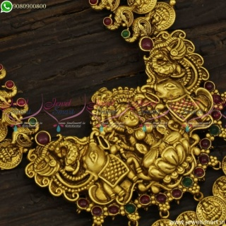 Classic Coin Haram Antique Gold Plated Long Necklace Marvelous Jewellery NL23623