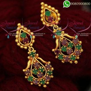Kal Thodu South Indian Kammal Stud Earrings Gold Plated Jewellery ER19971A