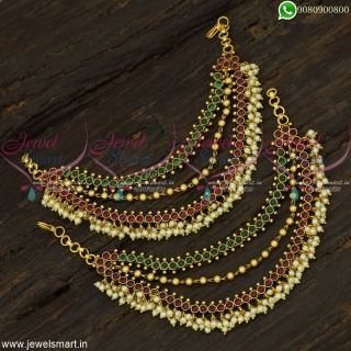 Kemp Ear Chain For Wedding Bahubali Style Fashion Jewellery Designs Online EC22432
