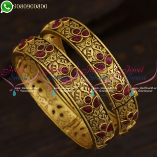 Kemp Jewellery Antique Bangles Beautiful Gold Plated Collections Online