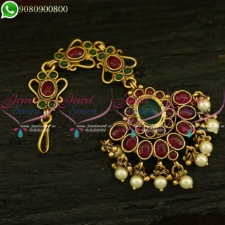 Kemp Jewellery MaangTikka Latest Traditional Nethichutti Designs Online T20898