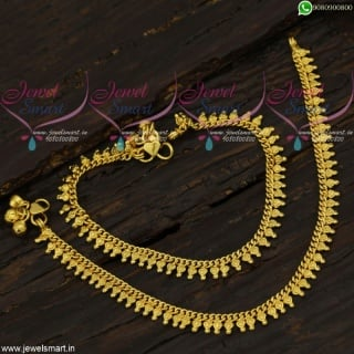 Kids Jewellery Baby Girl Size Golusu Anklets South Indian Designs A21715