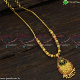 Kodi Chain Imitation Light Gold NecklaceDesigns Attigai Style Covering NL23202