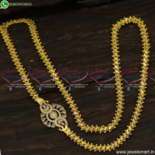 Latest Fashion Mugappu Chains Gold Designs South Indian Covering Jewellery C23630