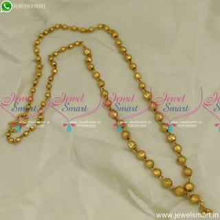 Latest Gold Beads Chain Necklace Simple Jewellery Designs Low Price C23862