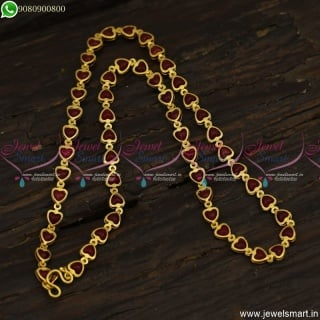 Latest Pearl Chain 18 Inches Gold Plated Imitation Jewellery For Daily Wear C23592