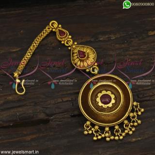 Layer PendantAntique Maang Tikka For Bride Designer Jewellery Collections OnlineT22703