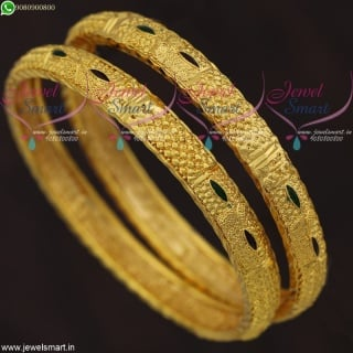 Light Weight Gold Plated Indian Design Bangles Daily Wear Imitation Jewelry