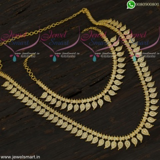 Long Necklace For Saree Mango Design Combo Set With White Stones Online NL21878