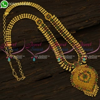Long Necklace One Gram Gold Plated Jewellery Suppliers Online Fashion NL21176