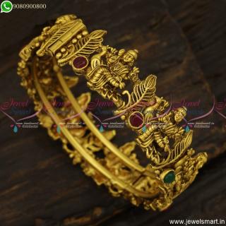 Lord Murugan Temple Jewellery Latest Antique Gold Bangles DesignsB23829