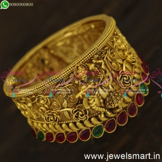 Incredible Lord Radha Krishna Nagas Bridal Kada Bracelet Temple Jewellery New Concepts