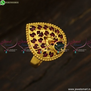 Low Price Antique Gold Plated Finger Ring Designs For FemaleF23816