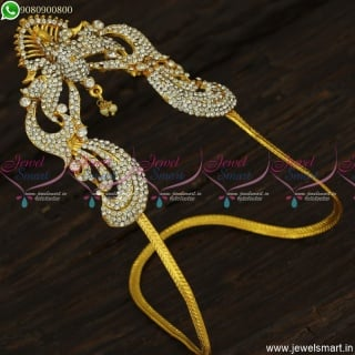 Low Price White Stones Arm Vanki Ideas For Wedding South Indian Jewellery V23461