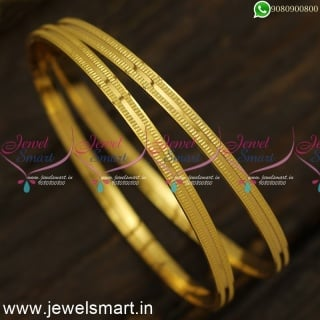 Low Price Gold Plated Bangles For Daily Use South Indian Jewellery OnlineB24557