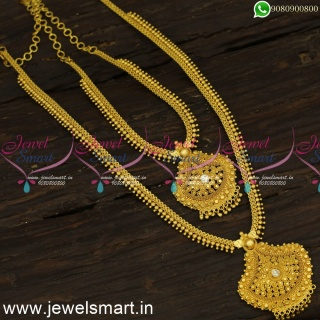 Low Price Jewellery Ideas Long Gold Necklace Combo Sets to Attend WeddingNL24120