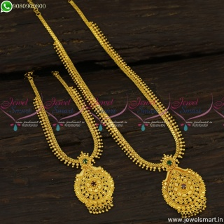 Low Price Light Weight Long Necklace Combo Set Gold Covering CollectionsNL23652