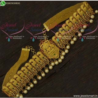 Magnificent Vaddanam Bridal One Gram Gold Jewellery Temple Designs H22137