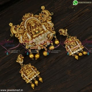 Majestic Pendant Sets Indian Jewellery Latest Nagas Gold Antique Collections Online PS23058