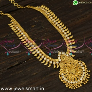 Manga Malai Arumbu One Gram Gold Necklace South Indian For Daily Wear NL24134