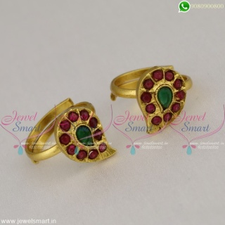 Mango Design Metti Traditional Toe Rings For Women Antique Jewellery Online T22587