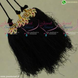 Mango StoneJada Kunjalam Silk Thread Hair Kuppulu Accessories for Hair Online