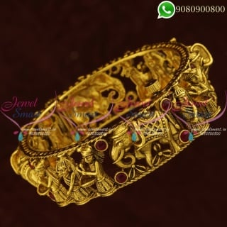 Marriage Party Design Antique Bangles Latest South Jewellery Collections Online B20866