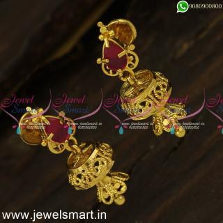J24417 Mini Two Step Light Weight Gold Covering Jimikki Kammal Artificial Jewellery