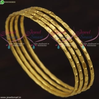 Mirror Design Daily Wear Gold Covering Bangles Online South Indian Collections