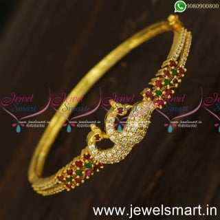 Modern Trends of Peacock Gold Bracelet Design Images With Lowest Price Online
