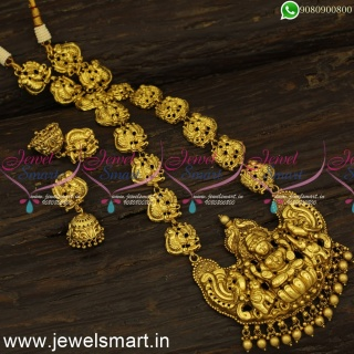 Most Preferred Temple Jewellery Traditional Antique Gold Haram Designs Online