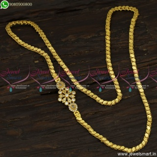 Mugappu Designs Gold Plated With Fancy Chain For Regular or Daily Wear C23424
