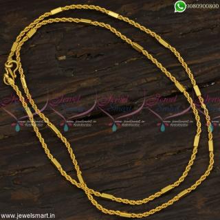 Popular Murukku With Capsule New Model Gold Chain Design for Women 24 InchesC23161
