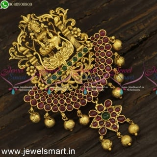 Antique Nagas Gold Temple Jada Billalu With Real Kemp Accessories For Hair Jewellery Online H24104