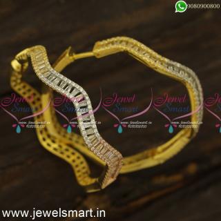 Neli Or Loop Pattern Big CZ Fashion Earrings Bali Style Imitation Gold JewelleryER24491