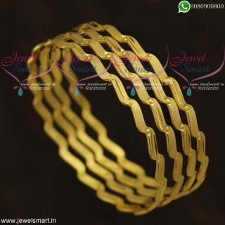 Neli Valayal Gold Design Bangles Latest Imitation Jewellery OnlineB21824